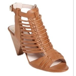 Vince Camuto Edelman Sandal Brown Leather 9W
